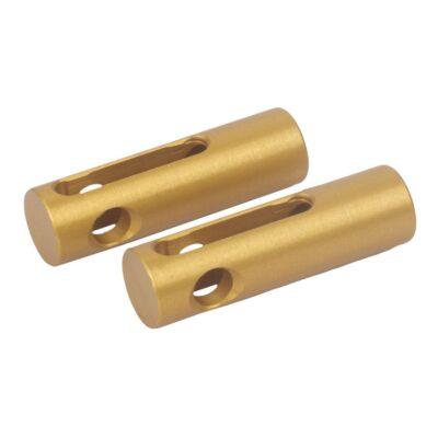 EX1338A – Optimist aluminium gold anodized top pins Optiparts