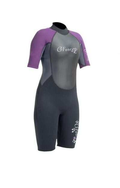Gul G-Force Ladies 3mm Flatlock Shorti Wetsuit Gf3306-A9